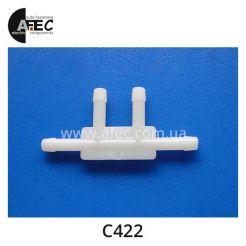 Пластиковый соединитель трубок d5.8