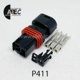 Автомобильный разъём герметичный гнездовой 3-х контактный серии 1,5мм аналог FCI 210PC03250016