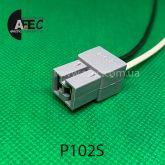 Автомобильный разъём гнездовой 2-Х контактный аналог TE 180923-0 серии 6,3мм c проводом