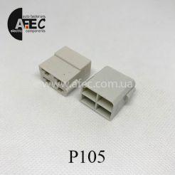 Автомобильный разъём гнездовой 4-Х контактный аналог TE 180900-0 серии 6,3мм