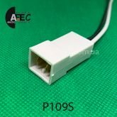 Автомобильный разъём штыревой 2-Х контактный аналог TE 1809240 серии 6,3мм с проводом