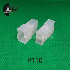 Автомобильный разъём штыревой 2-Х контактный Т-образный аналог TE 180908-0 серии 6,3мм