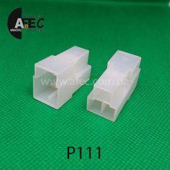 Автомобильный разъём штыревой 3-Х контактный  Т-образный аналог TE 180940-0 серии 6,3мм