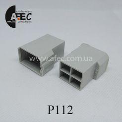 Автомобильный разъём штыревой 4-Х контактный Т-образный аналог TE 180901-0 серии 6,3мм