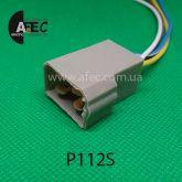 Автомобильный разъём штыревой 4-Х контактный Т-образный аналог TE 180901-0 серии 6,3мм с проводом
