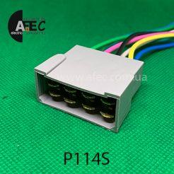 Автомобильный разъём штыревой 8-ми контактный аналог TE 1630080 серии 6,3мм с проводом