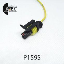 Автомобильный разъём герметичный гнездовой 1-о контактный аналог AMP TE 282079-2 серии SuperSeaL 1,5 с проводом