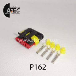 Автомобильный разъём герметичный гнездовой 4-х контактный AMP TE 282088-1серии SuperSeaL1,5 для датчика уровня топлива бензонасоса ВАЗ