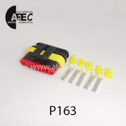 Автомобильный разъём герметичный гнездовой 5-ти контактный AMP TE 282089-1серии SuperSeaL 1,5 для жгута форсунок ГАЗ