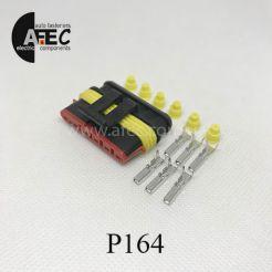 Автомобильный разъём герметичный гнездовой 6-ти контактный AMP TE 282090-1серии SuperSeaL  1,5