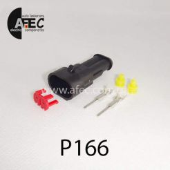 Автомобильный разъём герметичный штыревой 2-х контактный аналог AMP TE 282104-1серии SuperSeaL 1,5