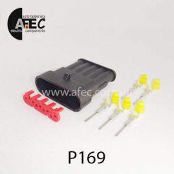 Автомобильный разъём герметичный штыревой 5-ти контактный аналог AMP TE 282107-1серии SuperSeaL 1,5
