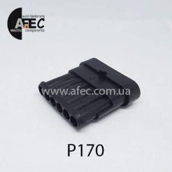 Автомобильный разъём герметичный штыревой 6-ти контактный аналог AMP TE 282108-1 серии SuperSeaL 1,5