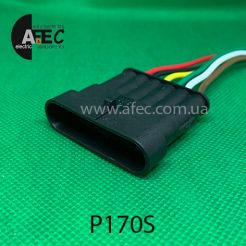 Автомобильный разъём герметичный штыревой 6-ти контактный аналог AMP TE 282108-1 серии SuperSeaL 1,5 с проводом