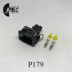 Автомобильный разъём герметичный гнездовой 2-х контактный аналог Delphi 15327869 VAG 357972752 серии 2.8мм