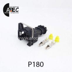 Автомобильный разъём герметичный гнездовой 2-х контактный аналог AMP 282189-1 серии 2.8мм для форсунок двигателя ВАЗ DAEWOO