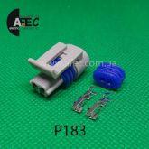 Автомобильный разъём герметичный гнездовой 2-х контактный аналог Delphi 12162197 серии 1.5 мм для датчик температуры GM