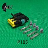 Автомобильный разъём герметичный гнездовой 4-х контактный аналог AMP TE 444046-1 серии 1.2мм