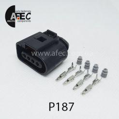 Автомобильный разъём герметичный гнездовой 4-х контактный аналог WAG 1J0 973 704 серии 1.2мм для датчика абсолютного давления и температуры для двигателей УМЗ