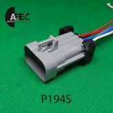 Автомобильный разъём герметичный штыревой 5-ти контактный аналог Delphi 12052480 серии 1.5мм для жгута форсунок ВАЗ с проводом