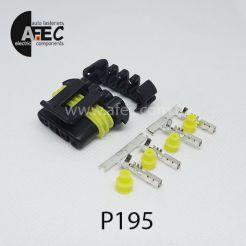 Автомобильный разъём герметичный гнездовой 4-х контактный аналог Delphi 12186568  серии 1.5мм