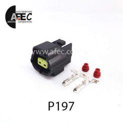 Автомобильный разъём герметичный гнездовой 2-х контактный аналог TE 174352-2 серии 1.8мм для дополнительных фар Daewoo Lanos для клапана адсорбера lanos Nubira Matiz