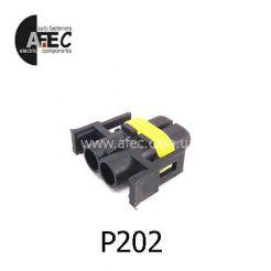 Автомобильный разъём герметичный гнездовой 2-х контактный  аналог  KET MG652520-5 серии 2.8мм для ламп H11