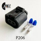 Автомобильный разъём герметичный гнездовой 2-х контактный аналог  VAG 1J0 973 722 TE 17176921 серии 3.5мм