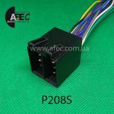 Автомобильный разъём ISO штыревой 13-ти контактный серии 2,8мм для акустических систем с проводом