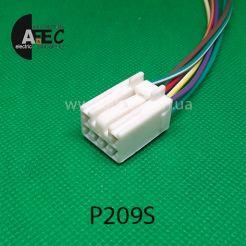 Автомобильный разъём гнездовой 6-ти контактный аналог Sumitomo 6188-0554 с проводами
