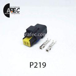 Автомобильный разъём герметичный гнездовой 2-х контактный аналог  FCI 211PC022S8049 серии 2.5мм