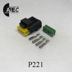 Автомобильный разъём герметичный гнездовой 4-х контактный аналог  FCI 211PC042S4021серии 2.5мм