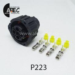 Автомобильный разъём байонетный герметичный гнездовой 4-х контактный аналог TE 1-1813099-1 9673251 серии 2.5 для датчика спидометра Камаз Маз Зил Паз Краз Урал для датчика уровня пола
