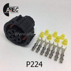 Авто разъем байонетный гнездовой 7-и контактный аналог TE 967650-1 1-1813344-1 для фар и фонарей Камаз Маз Газель (фары 23.3775, 231.3775)