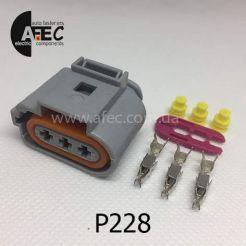 Авто разъём гнездовой 3-х контактный серии 3,5мм VAG 1J0 973 723G TE Connectivity 969380-1