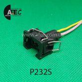 Автомобильный разъём гнездовой 2-х контактный аналог TE 8294411 Delphi 15327868 серии 2,8мм для форсунок bosch 0280158502 датчика детонации ВАЗ 2108-2115 2110-2112 с проводом