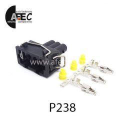 Автомобильный разъём герметичный гнездовой 3-х контактный аналог VAG 357972753  серии 2,8мм
