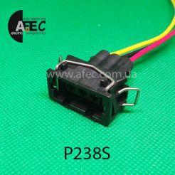 Автомобильный разъём герметичный гнездовой 3-х контактный аналог VAG 357972753 12162834 серии 2,8 мм с проводом