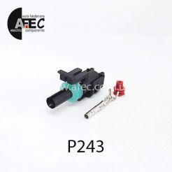 Автомобильный разъём герметичный гнездовой 1-но контактный аналог Delphi 12015791 WEATHER-PACK серии 2,5мм для датчика кислорода Daewoo Lanos 1,5