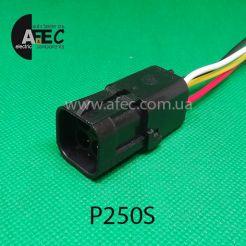 Автомобильный разъём герметичный штыревой 4-х контактный аналог Delphi 12015024 WEATHER-PACK серии 2,5мм для жгута бензонасоса датчика кислорода ВАЗ с проводом