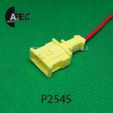 Автомобильный разъём штыревой 1-но контактный аналог VAG 191972711 TE серии 2,8мм с проводом
