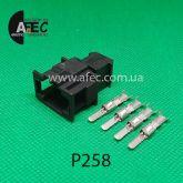 Автомобильный разъём штыревой 4-х контактный аналог VAG АМР 19296261 серии 2,8мм