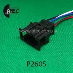 Автомобильный разъём штыревой 6-ти контактный аналог VAG АМР 19296271 серии 2,8мм с проводом