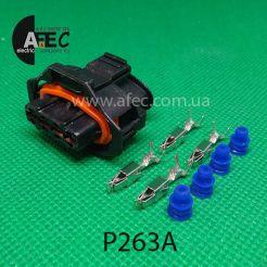 Автомобильный разъём герметичный гнездовой 4-х контактный аналог P263