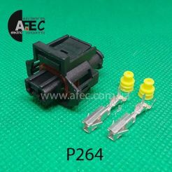 Автомобильный разъём герметичный гнездовой 2-х контактный аналог TE 936059-1 серии 2,8мм для датчика температуры ЗМЗ 405