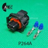 Автомобильный разъём герметичный гнездовой 2-х контактный аналог Bosch 1928403874
