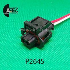 Автомобильный разъём герметичный гнездовой 2-х контактный аналог TE 9360591 серии 2,8мм для датчика температуры ЗМЗ 405 с проводом