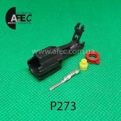 Автомобильный разъём штыревой 1-но контактный аналог KET MG6402805 серии 1,8мм для китайских блоков розжига ксеноновых ламп