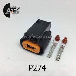 Авто разъём гнездовой 2-х контактный KUM PB625-02027 для туманок Aveo CHEVROLET
