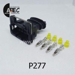 Автомобильный разъём герметичный гнездовой 4-х контактный AMP 282192-1 серии 2,8мм